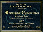 Meursault Genevrière 1er cru Alain Patriarche