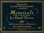 """Meursault """"Les Grands Charrons"""" Alain Patriarche"""