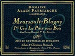 Meursault Blagny Alain Patriarche