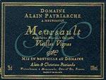 Meursault Vielles Vignes Alain Patriarche