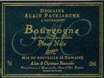 Bourgogne Pinot noir Alain Patriarche
