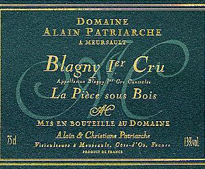 Meursault « Blagny Rouge » 1er Cru