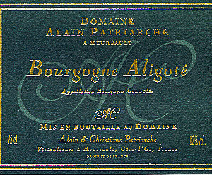 Bourgogne Aligoté Domaine Alain Patriarche