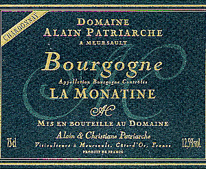 Bourgogne Chardonnay « La Monatine »