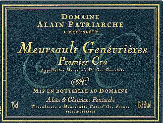 Meursault Genevrières 1er Cru