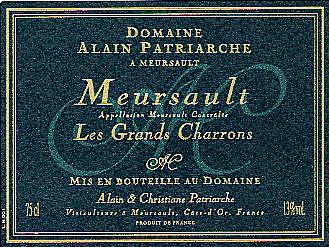 Meursault Les Grands Charrons