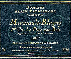 Meursault Blagny « La Pièce Sous Bois » 1er Cru