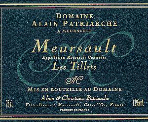 Meursault Les Tillets