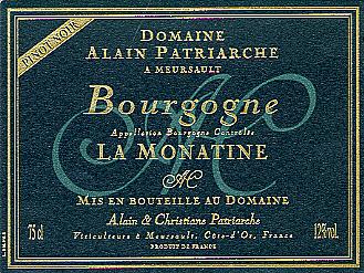 Bourgogne Pinot Noir « La Monatine »